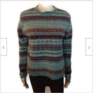 Eddie Bauer grey heavy knit wool pullover sweater
